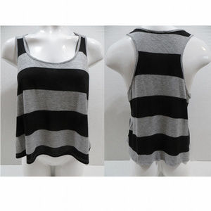 Forever 21 top Large striped sleeveless cropped